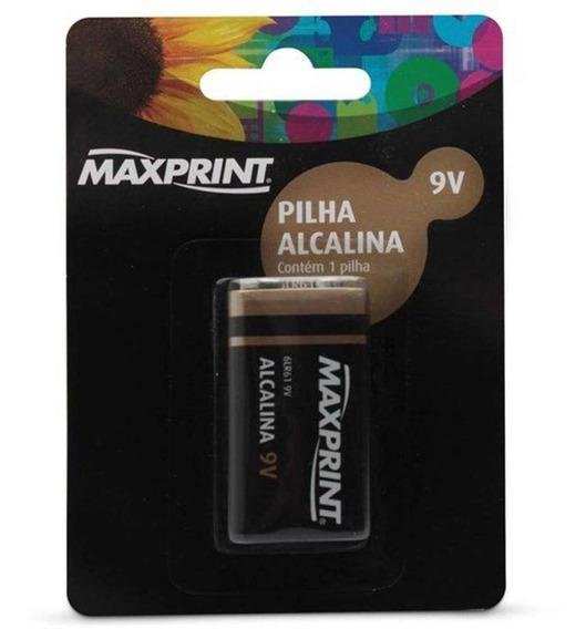 Pilha Alcalina 9v Maxprint