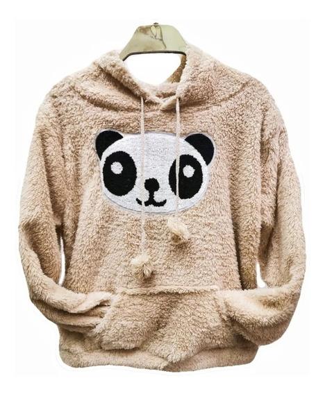 Blusa Frio Feminina Pelinho Com Estampas Panda Inverno