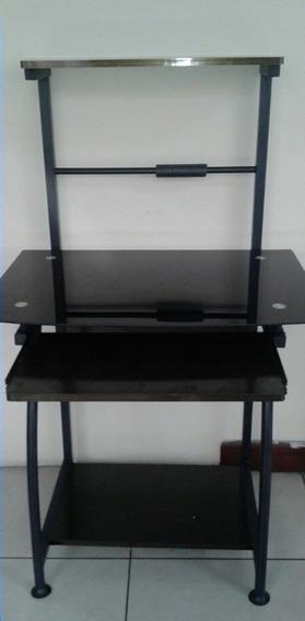 Mesa Para Computadora En Vidrio Templado Color Negro