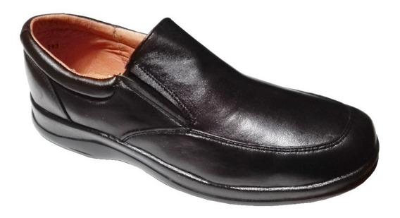 Zapato Piel De Borrego Para Pie Delicado Diabetico Negro 803