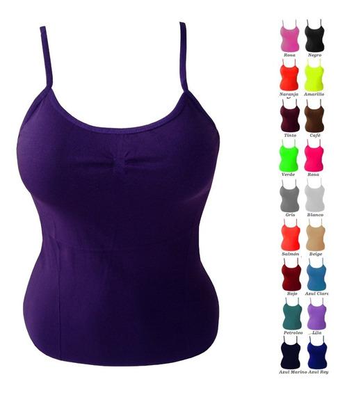 Playera Camiseta Tirantes Dama 10pz Colores