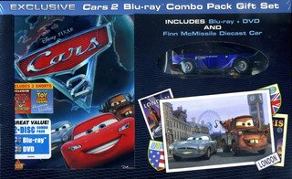 Cars Disney Pixar Blu Ray Combo Pack Gift Set Bunny Toys