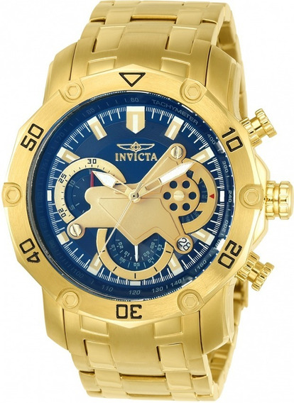 Relógio Invicta Pro Diver 22765 Vd53- Ouro 18k Frete Grátis