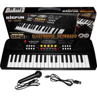 Teclado Piano Organeta Electrónico 37 Teclas Más Micrófono