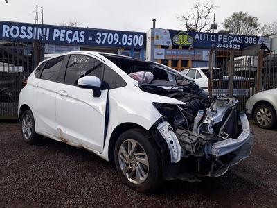 Sucata Honda Fit Lx Cvt 2015 Para Venda De Peças Usadas