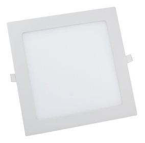 Kit 5 Plafon Led Quadrado 25w Classe A Luminária Embutir