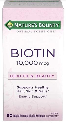 Imagen 1 de 5 de Cabello Hermoso Biotina 10,000 Mcg 90 Softgels