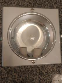 Kit 5 Luminárias De Embutir Quadrada Para 2 Lâmpadas