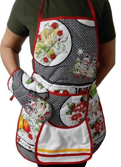 12 Avental De Cozinha Com Bolso Forro De Pvc