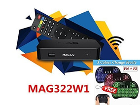 Mag 322 W1 Iptv Box + In Built Wifi + Hdmi Cable + 3 Color B