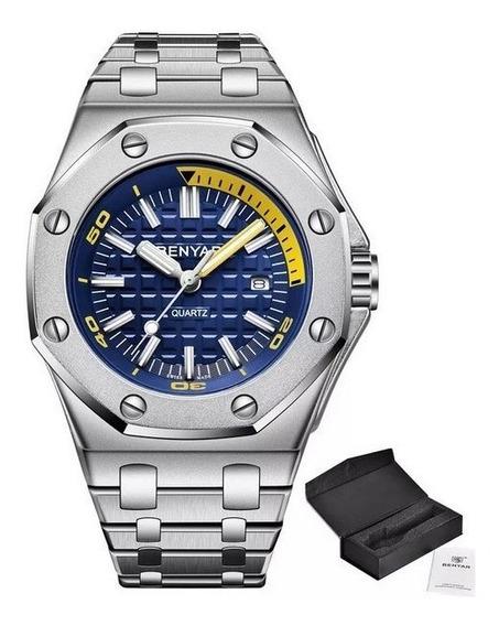 Relógio Pulso - Benyar - 43mm - Hardlex