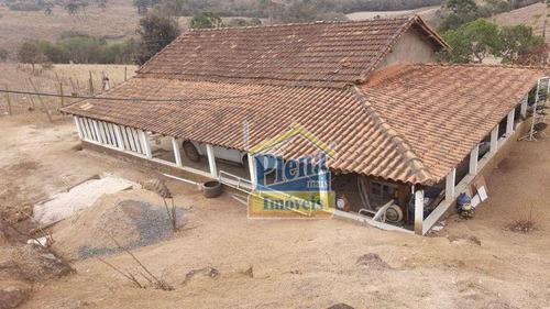 Imagem 1 de 30 de Chácara Com 2 Dormitórios À Venda, 7390 M² Por R$ 220.000,00 - Bocaina - Caldas/mg - Ch0162