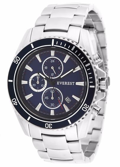 Everest Relógio Masculino Aço 11 Á Prova D´agua C Garantia1