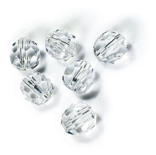 Imagem 1 de 7 de Contas Cristal Facetado Sextavado C/furo10mm Pct 500 Gramas