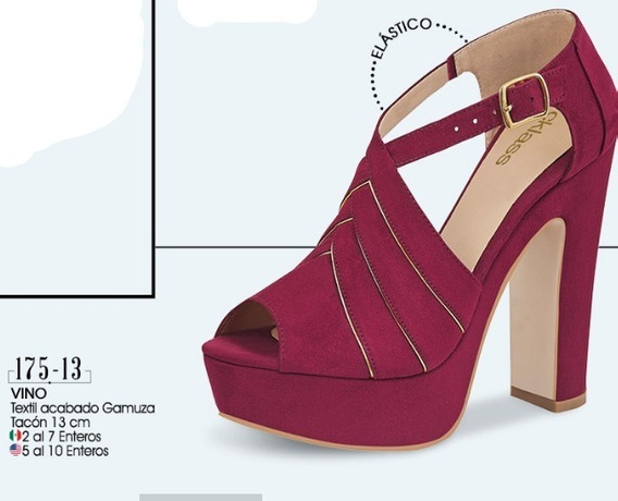 Zapatos De Tacon Color Vino 175-13 Cklass Dama 2-19 D
