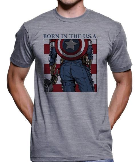 Camiseta Capitão América Thanos Vingadores Ultimato 4149