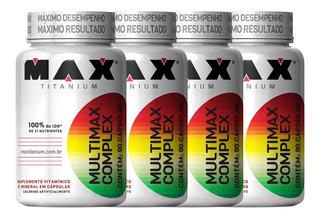 Combo 4x Multimax Complex - 90 Cápsulas Cada - Max Titanium