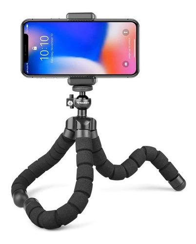 Imagen 1 de 5 de Trípode Flexible Celular Araña Pulpo Con Shooter Bluetooth