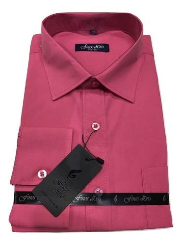 Imagen 1 de 4 de Camisa Lisa Hombre Promocion