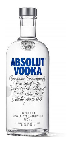 Absolut Vodka Original Sueca 750ml