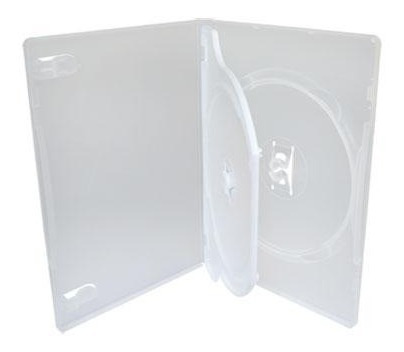 50 Box Dvd Duplo Transparente