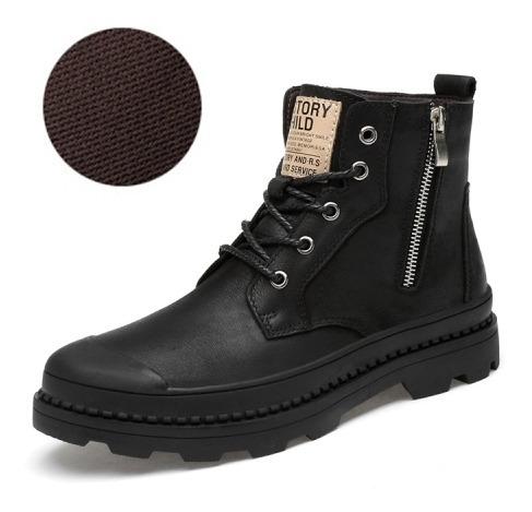 Zapato Casual Bota Hombre Martin Cuero Inglaterra High Vr