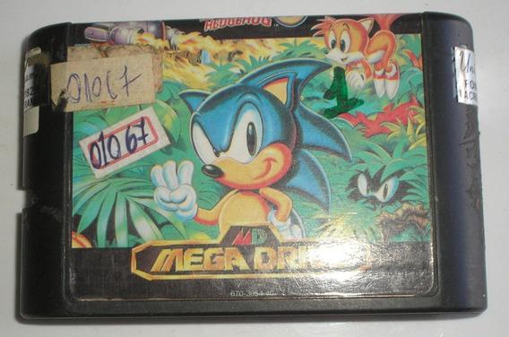Sonic The Hedgehog Mega Drive Paralela Usada Funcionando