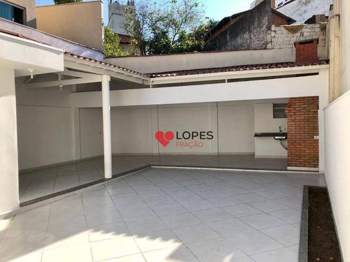 Sobrado Com 3 Dormitórios Para Alugar, 275 M² Por R$ 7.000,00/mês - Anália Franco - São Paulo/sp - So0380