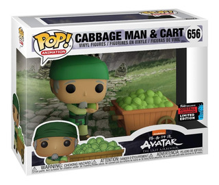 Funko Pop Avatar Cabbage Man & Cart 656 Nycc Fall Convention