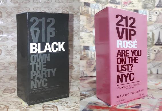 Kit Promoção Perfumes,212 Vip Black Men Mas /212vip Rose Fem