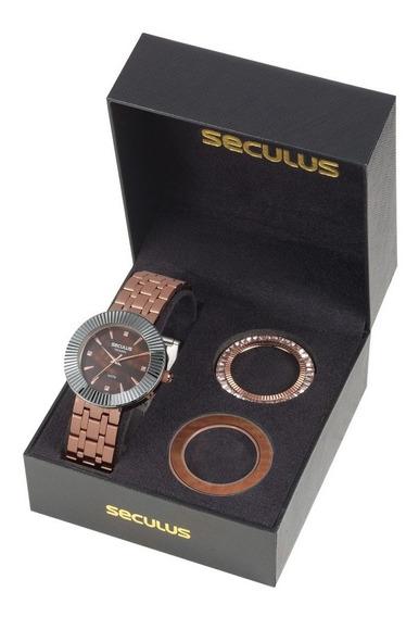 Kit Relógio Seculus Feminino 20598lpsvrs1
