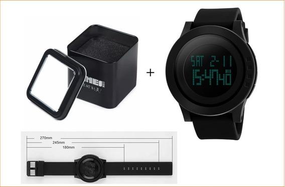 Relógio Masculino Digital Skmei 5atm Pulseira Silicone