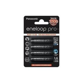 4 Pilhas Recarregavel Aa Profissional Panasonic Kit Original