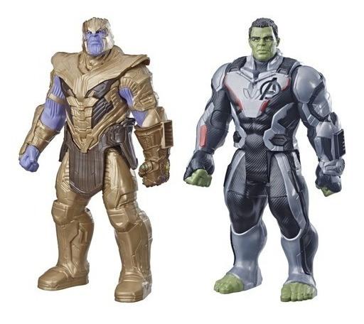 2 Bonecos Thanos E Hulk Vingadores Ultimat 30cm Hasbro E4018