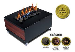Lareira Ecológica Mini Bar Mesinha Centro Mesa Premium Luxo