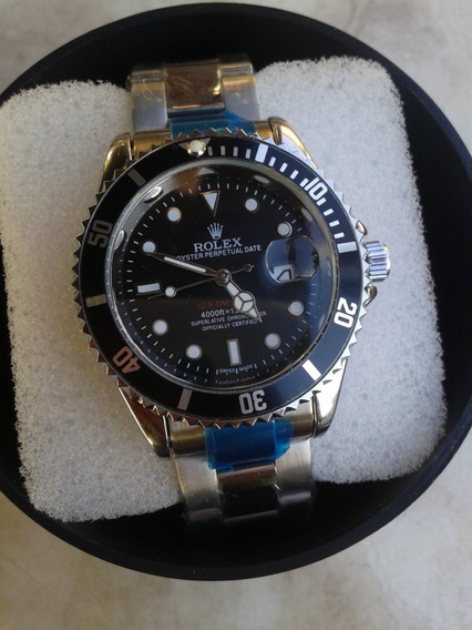 Submariner Relogio Masculino Black Com Caixa Silver