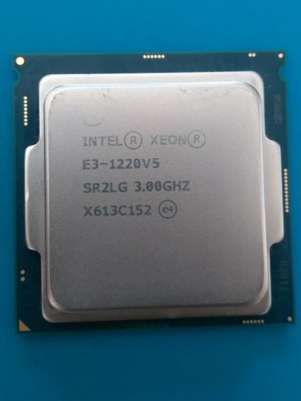 Processador Intel Xenon E3-1220v5 3.0 Quad Core, 8mb De Cach