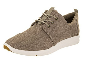 Zapatillas Mujer Del Rey Toms Desert Taupe Poly Canvas Oxfor