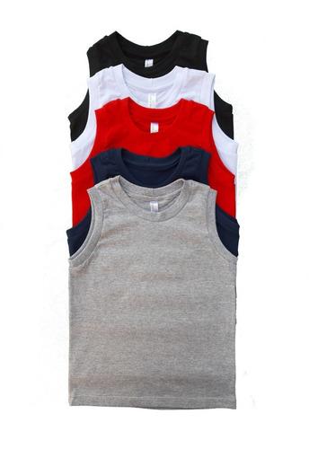 Kit 5 Camiseta Regata Infantil