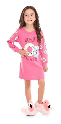 Camisola Infantil Bicho Bagunça Donut