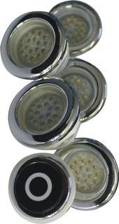 Set Lamparas Para Jacuzzi Rgb 5 Pza Control Touch Sumergible
