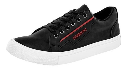 Tenis Casuales Marca Ferrioni Negro H7101ng Dog