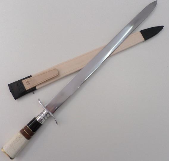 Adaga Aço Inox Cabo De Osso/chifre/madeira 18 Polegadas