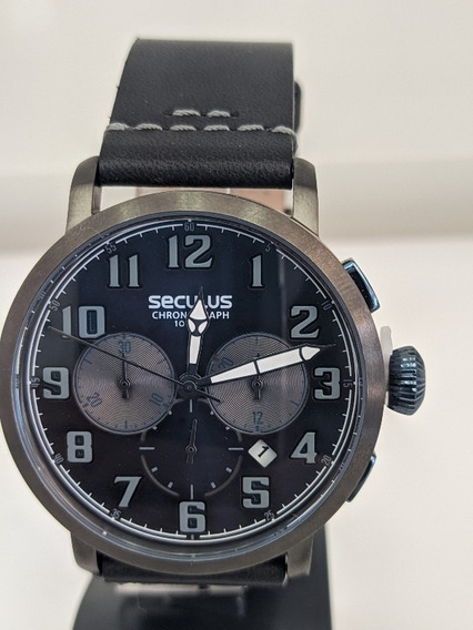 Relógio Seculus De Couro Masculino (13029gpsvsca)