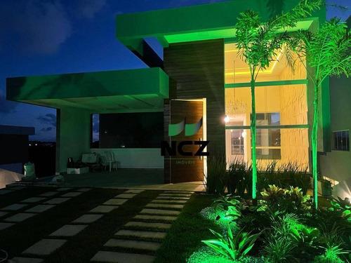 Imagem 1 de 24 de Casa Com 3 Dormitórios À Venda, 185 M² Por R$ 1.150.000,00 - Alphaville Litoral Norte 2 - Camaçari/ba - Ca3513