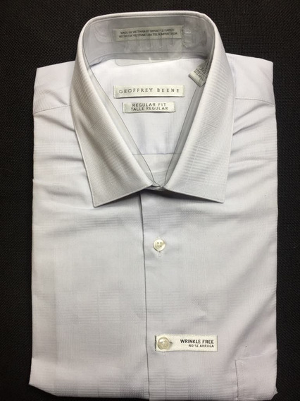 Camisa De Vestir Geoffrey Beene Color Plateado Slim Fit