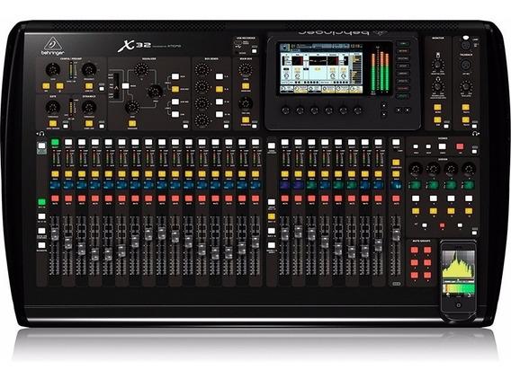 Mesa Som Digital Behringer X32 Full 32 Canais Usb C/ Efeitos