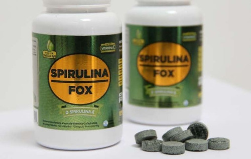Imagen 1 de 2 de Spirulina Fox + Alga Spirulina Pura +25 Frascos X 120 Comp.