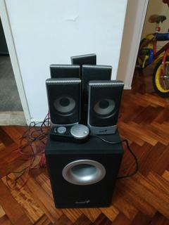 Home Teather Genius 5.1 1500w Espectacular Sonido