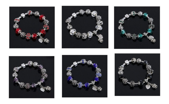 Pulseira Bracelete Estilo Pandora Banhada A Prata 925